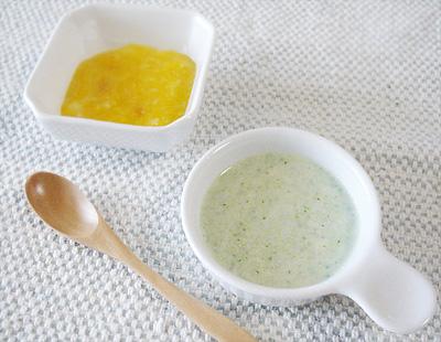 【離乳食初期】カボチャがゆ/鯛とブロッコリーのミルク煮