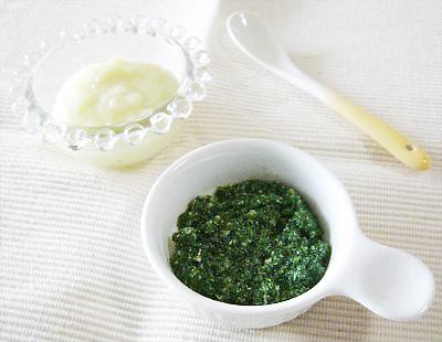 【離乳食初期】玉ねぎとキャベツのクリームがゆ/鯛と青菜のうま煮