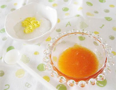 【離乳食中期】ミモザがゆ/ニンジンのリンゴジュース煮