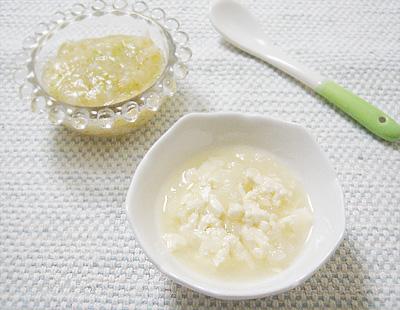 【離乳食中期】トマトとブロッコリーのおかゆ/カブと豆腐のすり流し