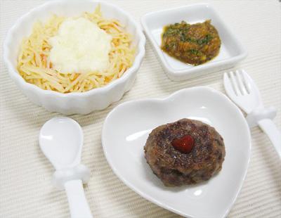 【離乳食後期】パスタグラタン/チーズハンバーグ/サツマイモのプルーン煮