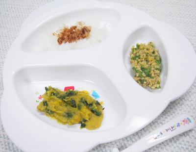 【離乳食後期】おかかご飯/ニラレバ/オクラ納豆