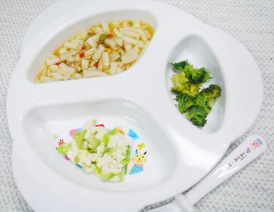 【離乳食後期】五目うどん/枝豆の白和え/ブロッコリーのソテー