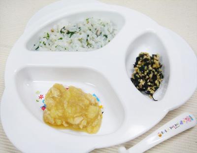 【離乳食後期】水菜とシイタケのおじや/ブリとジャガイモのぽってり煮/ひじき納豆