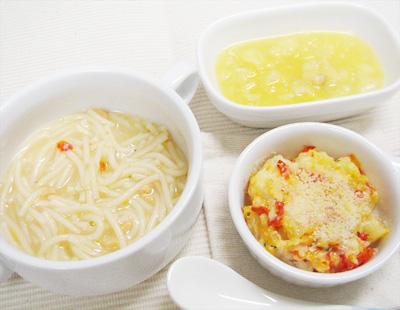 【離乳食後期】鮭のクリームパスタ/マカロニグラタン/スイートバナナ
