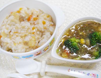 【離乳食完了期】野菜の煮込みうどんおじや/ブロッコリーとビーフのポトフ