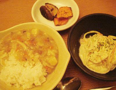 【離乳食完了期】野菜の煮込みうどんおじや/サラダスパゲッティ/焼き野菜