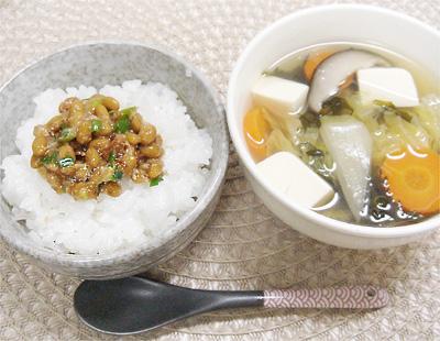 【離乳食完了期】納豆ご飯/鶏鍋スープ